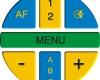 Logo des in Kreisform angeordneten taktilen Bedienfeldes