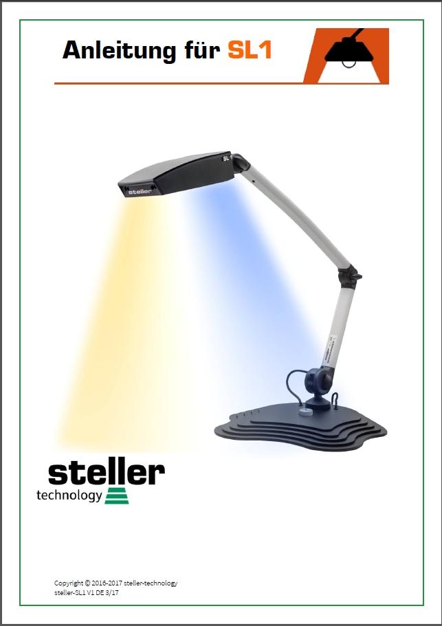 Deckblatt der Anleitung steller-SL1 Tisch-/Arbeitsplatzleuchte