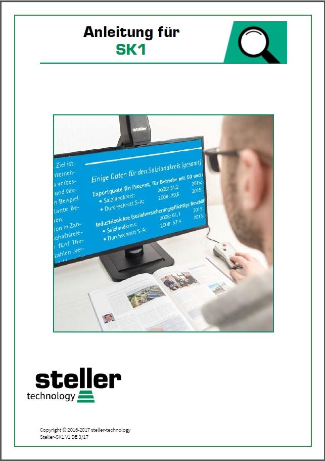 Deckblatt der Anleitung steller-SK1