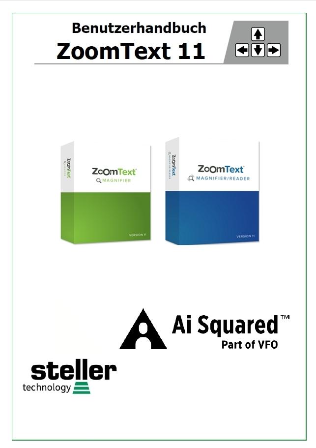 Deckblatt der Anleitung ZoomText 11
