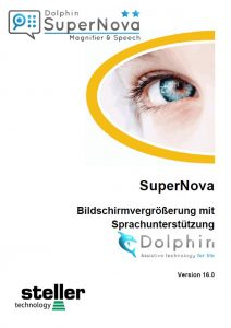 Deckblatt der Anleitung Supernova Magnifier Speech V16