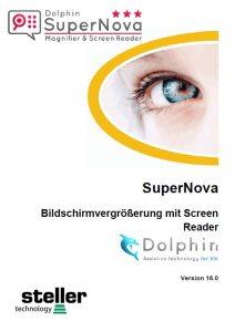 Deckblatt der Anleitung Supernova Magnifier Sreenreader V16