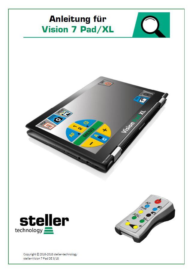 Deckblatt der Anleitung steller-Vision-Pad