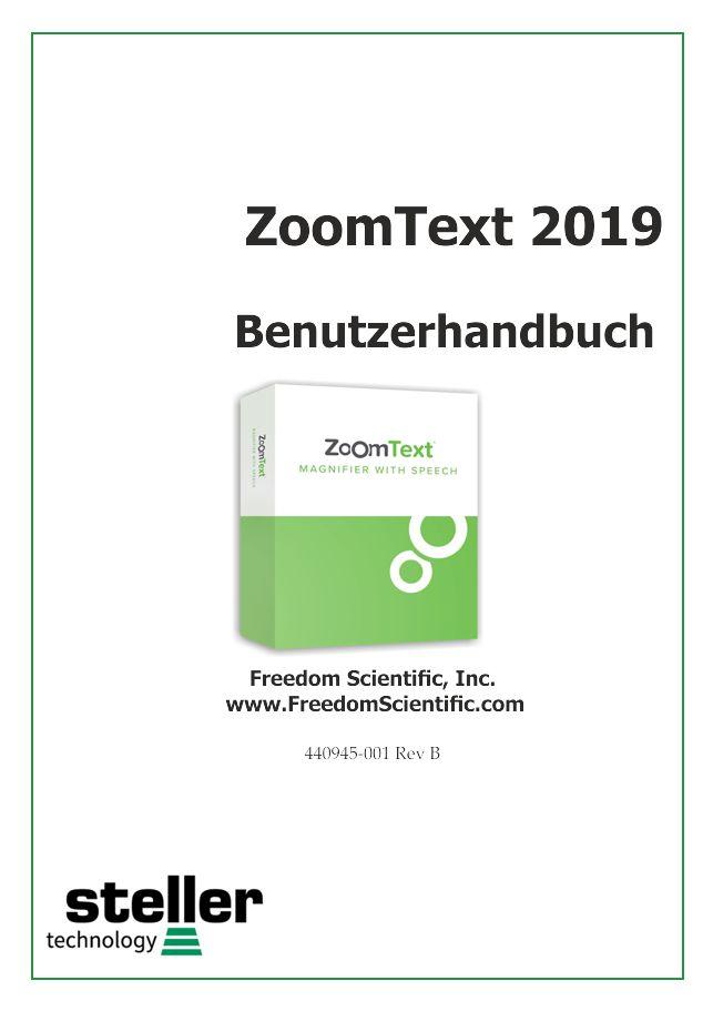 Deckblatt der Anleitung ZoomText 2019