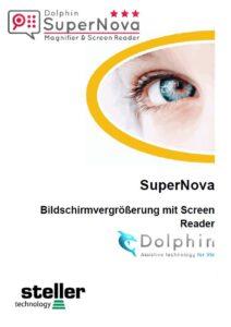 Deckblatt der Anleitung Supernova Magnifier ScreenReader